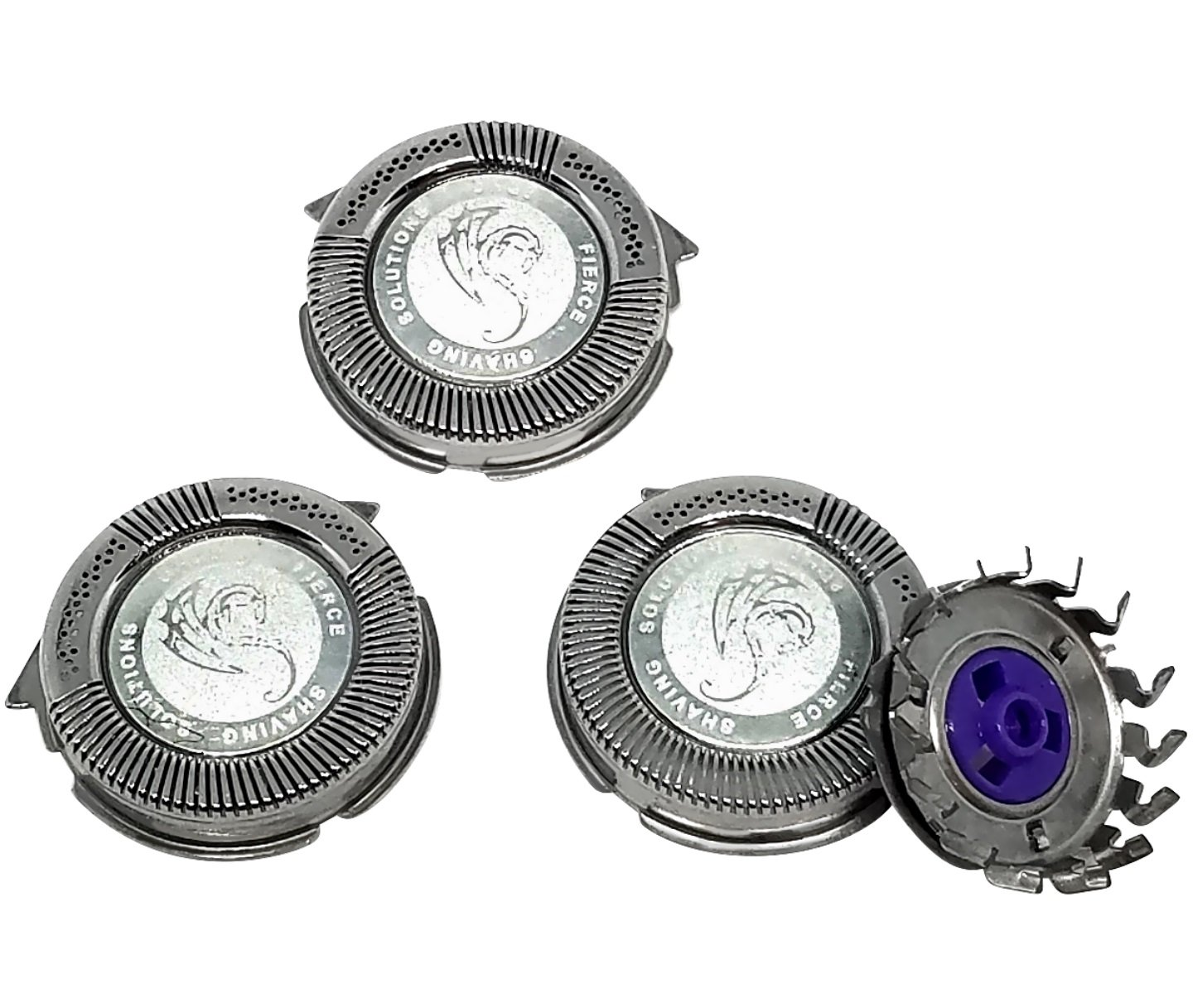 Universal HQ8 Compatible Replacement Heads Silver Dragon Edition 3-Pack Suitable for Philips Norelco Electric Shavers Models