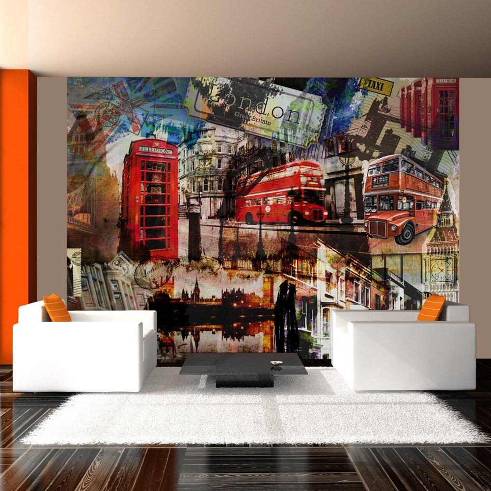 murando – Papier peint intissé 350x270 cm - Papier peint - Trompe l oeil -  Tableaux muraux - déco – XXL London - 10040904-60 532c356b7a3