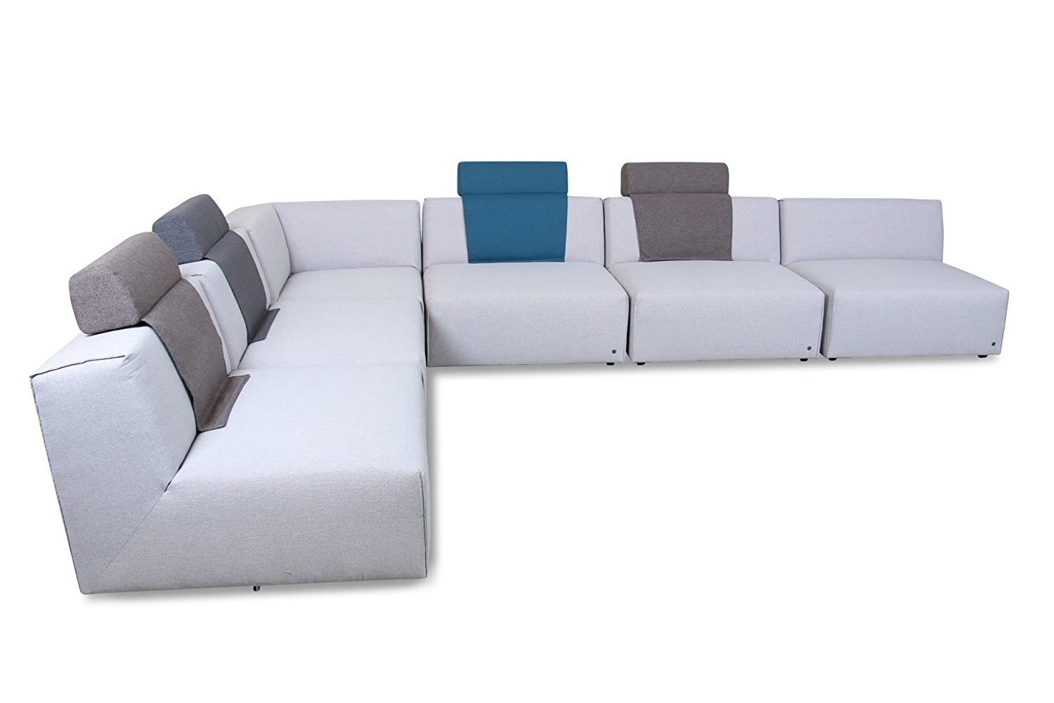 sofa tom tailor rundecke 2er ecke 3er lazy webstoff grau online kaufen. Black Bedroom Furniture Sets. Home Design Ideas