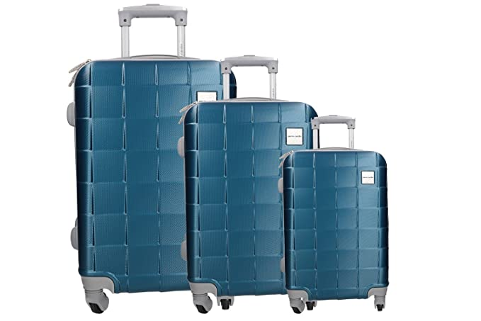 3 Maletas rígidas set azul cabina PIERRE CARDIN PVC equipaje de mano VS345: Amazon.es: Ropa y accesorios