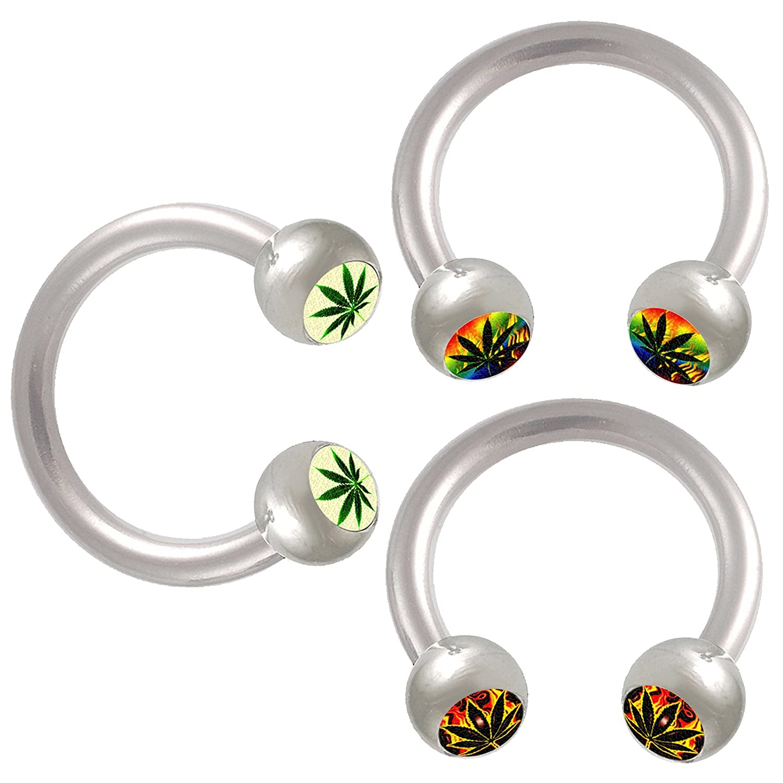 bodyjewellery 16g 16 Gauge 1.2mm 5//16 8mm Horseshoe Steel Ring Circular Barbell Eyebrow Bars Tragus BBOD Jewelry 3pcs