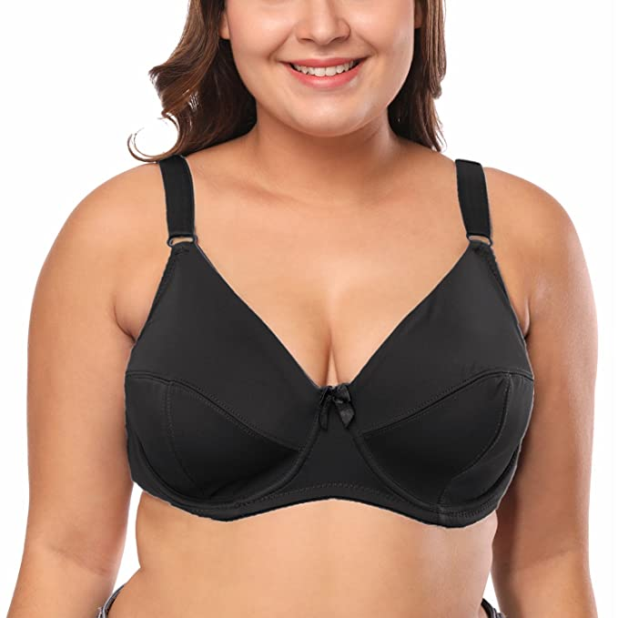 d5a703045e585 Women Plus size Underwired Non-padded Big Cup Volumn Bra 36-48C D DD ...