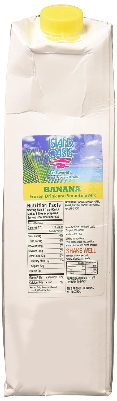 Island Oasis SB3X Premium Banana Drink Mix Bottle, 1 L