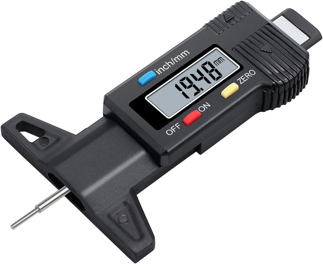 Pneumatici Profondit/à del battistrada calibro della gomma del tester del calibro Misuratore battistrada Checker Tyre Tester