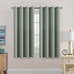 H.VERSAILTEX Light Blocking Curtain for Bedroom/Living Room, Energy Efficient Thermal Insulated Grommet Window Panel Blackout Curtains for Bedroom/Living Room, Sage, 52 by 63 inch Long, One Panel