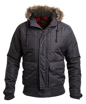 f45c6850953b5 Ringspun Men s Max Padded Hooded Short Parka Jacket  Amazon.co.uk ...