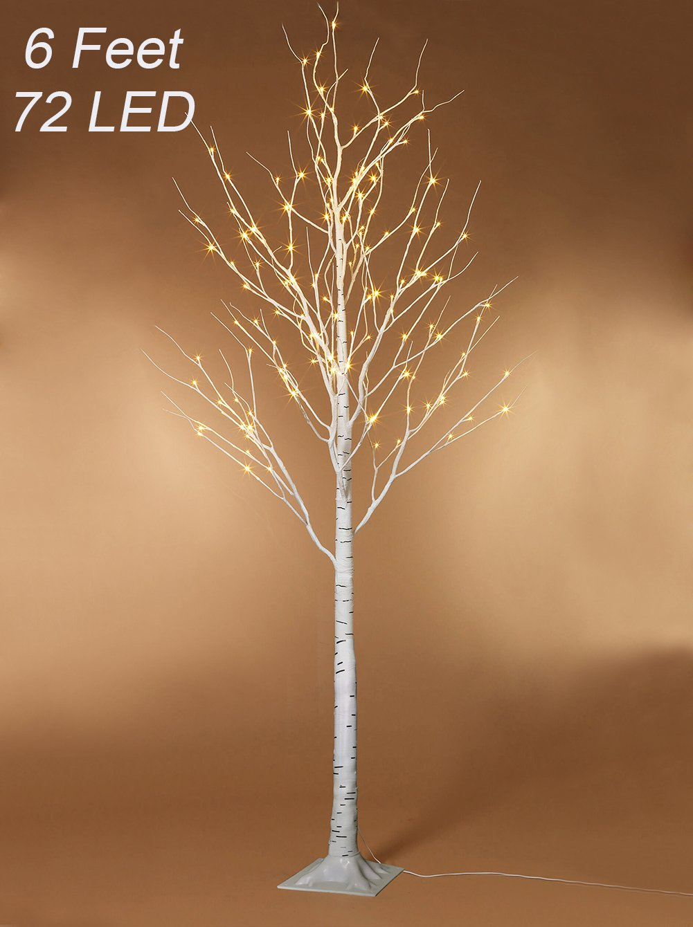 Twinkle Star Lighted Birch Tree 6 Feet 72 Led For Home Wedding