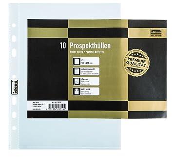 Prospekthüllen A5 transparent g... PP-Folie für: DIN A5 Lochung: Eurolochung