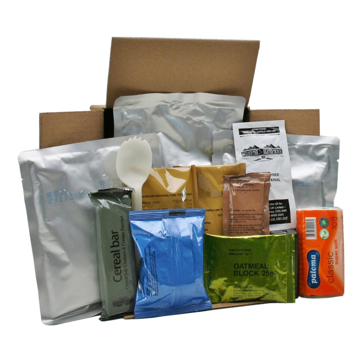 Army Ration Pack Ready To Eat Meals Menu 2