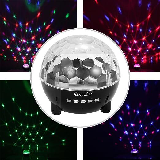 38 opinioni per OxyLED ST-02 Mini luce da palco, speaker stereo integrato, batteria da 1000mAh,