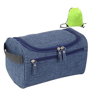 Mooedcoe Bolsa de Aseo Colgando Viaje Impermeable Bolso de Baño Tocador Lavar Hombre Mujer Dopp Kit (Azul): Amazon.es: Equipaje