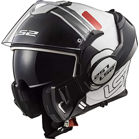 Amazon.es: LS2 FF399 Casco Moto Modular con Doble Visera ...
