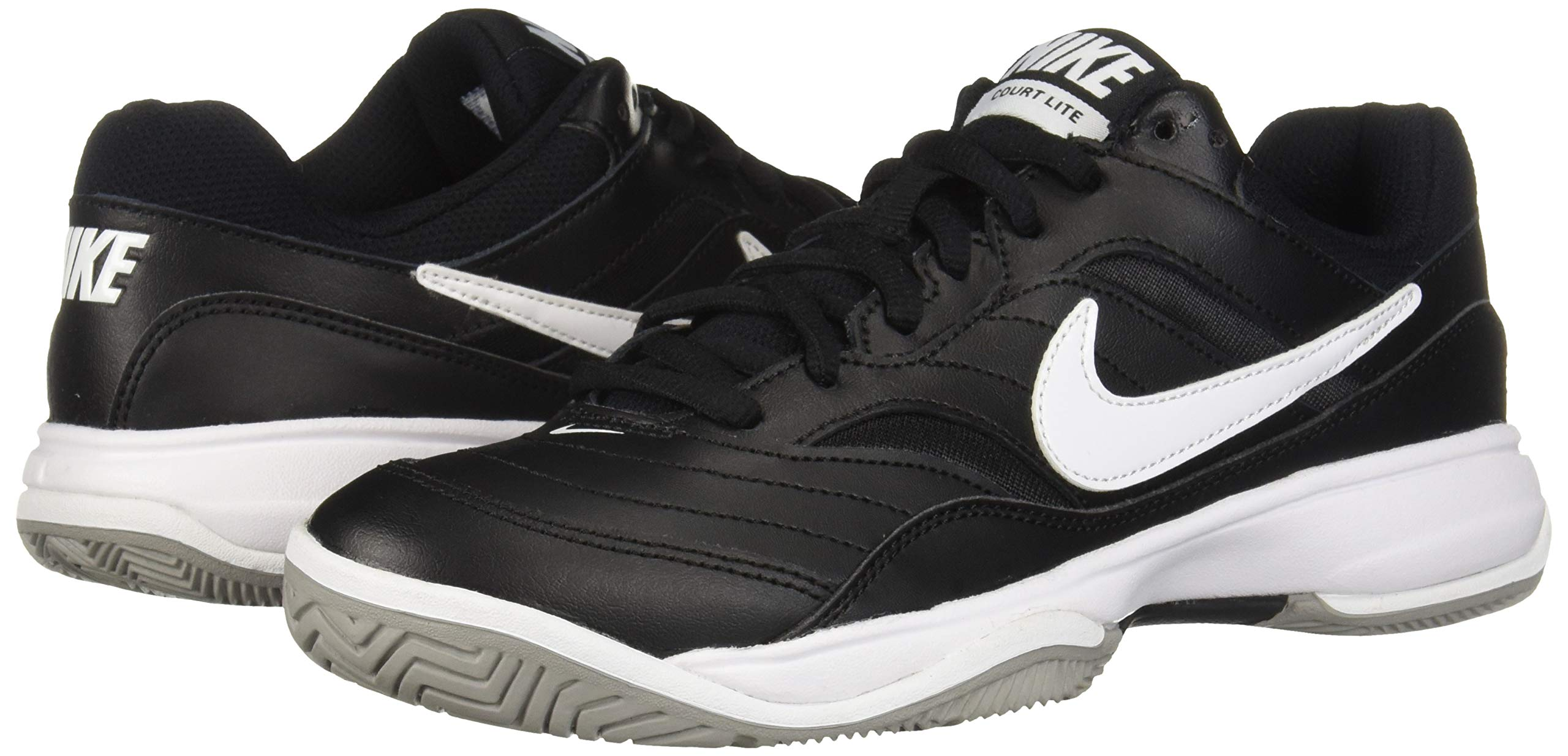 NIKE Men's Court Lite Athletic Shoe, Black/White/Medium Grey, 7.5 Regular US by Nike (Image #6)