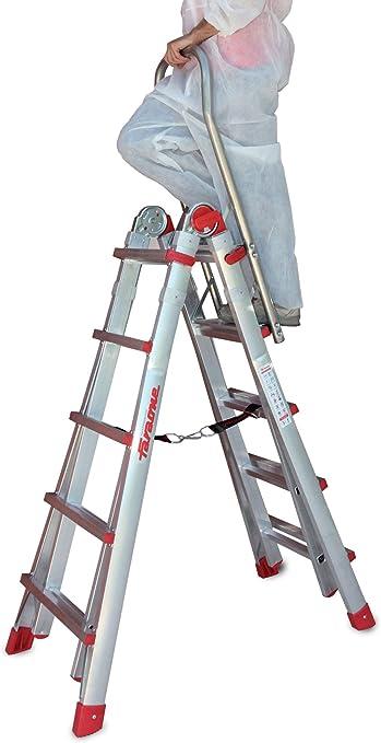 Escalera Telescópica de Aluminio Profesional Teles.t4s-b Faraone · 8 + 8 Peldaños con reposabrazos: Amazon.es: Bricolaje y herramientas