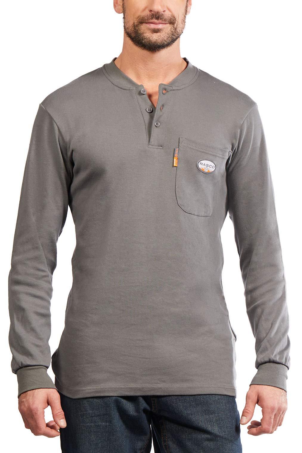 Rasco FR Mens Two-Tone Henley T-Shirt