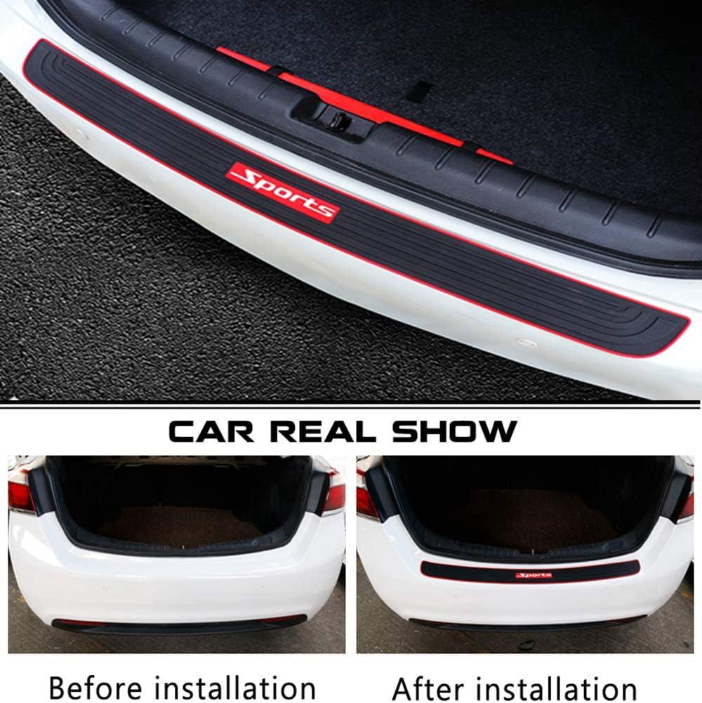 MARCHFA Car Bumper Protector Rubber Rear Bumper Guard Rear Bumper Cover Black Compatible for Astra 90CM