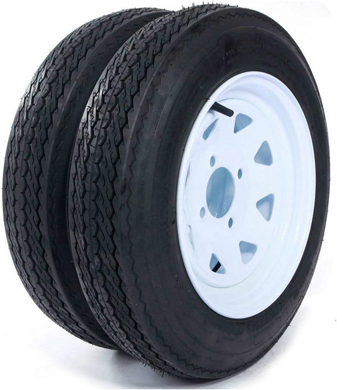 Set de 2 remolque neumáticos y llantas 4,80 – 12 480 – 12 4,80 x 12 12