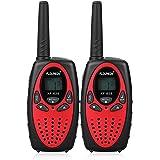 FLOUREON Talkie Walkie Paire 8 canaux UHF400-470MHZ 2-Way Radio Gamme de 3 kilomètres Comme Interphone Jouet pour Enfant