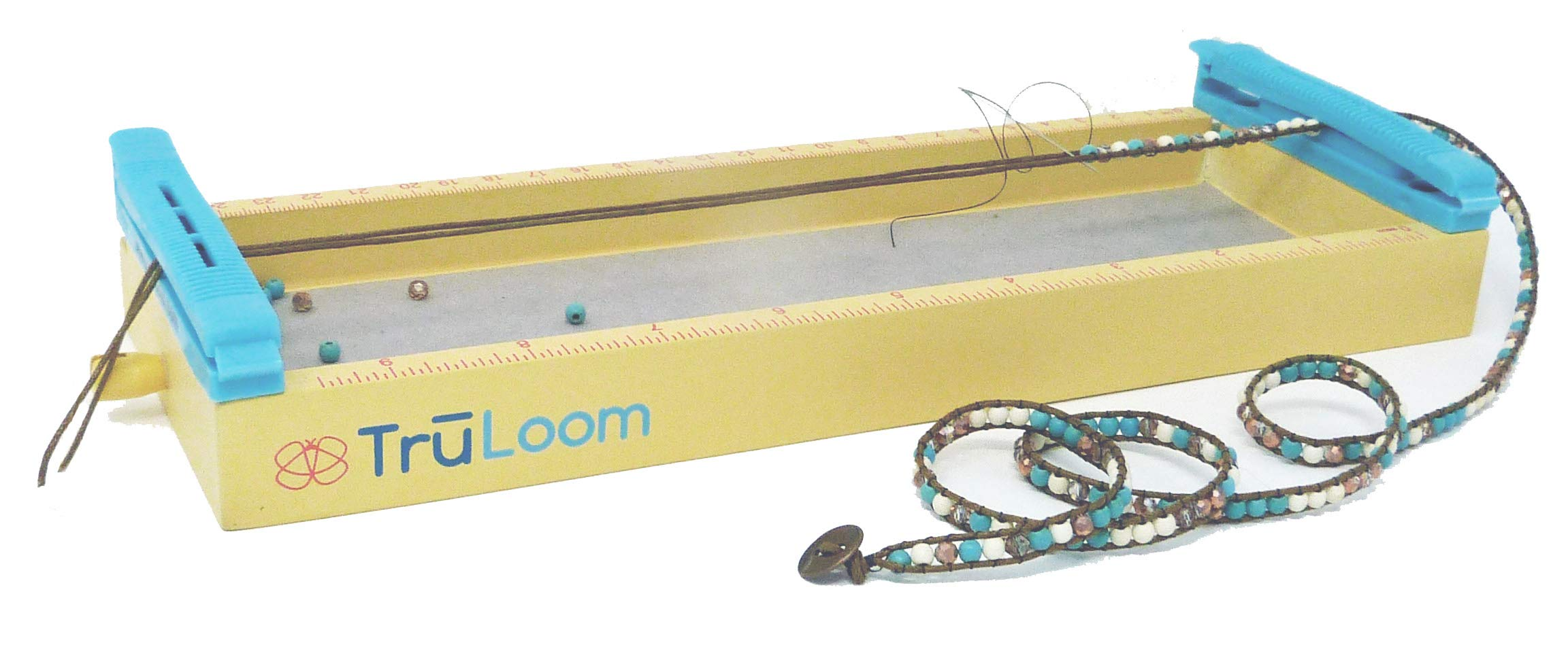 TRULOOM Easy DIY Jewelry Loom for Creating Endless Wrap Bracelets, Chokers, Bead Weaving and More. Quality Designer Glass and Stone Bead Kit Included. Ceate Your own Boutique Style Jewelry! by BonaFide Kit Company
