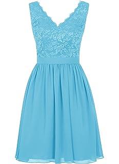 Angel Formal Dresses Womens V Neck Lace Bridesmaids Dress Short Prom Homecoming Dress