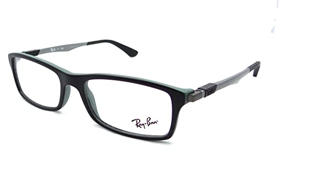 976350bd9f Image Unavailable. Image not available for. Colour  Ray-ban Rx Eyeglasses  Frames Rb 7017 5197 54x17 Matte Black on Green