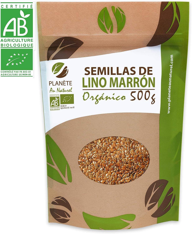 Semillas de Lino marrón Orgánico - 500g: Amazon.es: Alimentación y bebidas