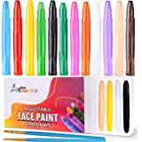Face Painting Kit for Kids - Includes 12 Colors of Washable Water Based Color Crayons; Great for Kids' Face Paint, Makeup, an