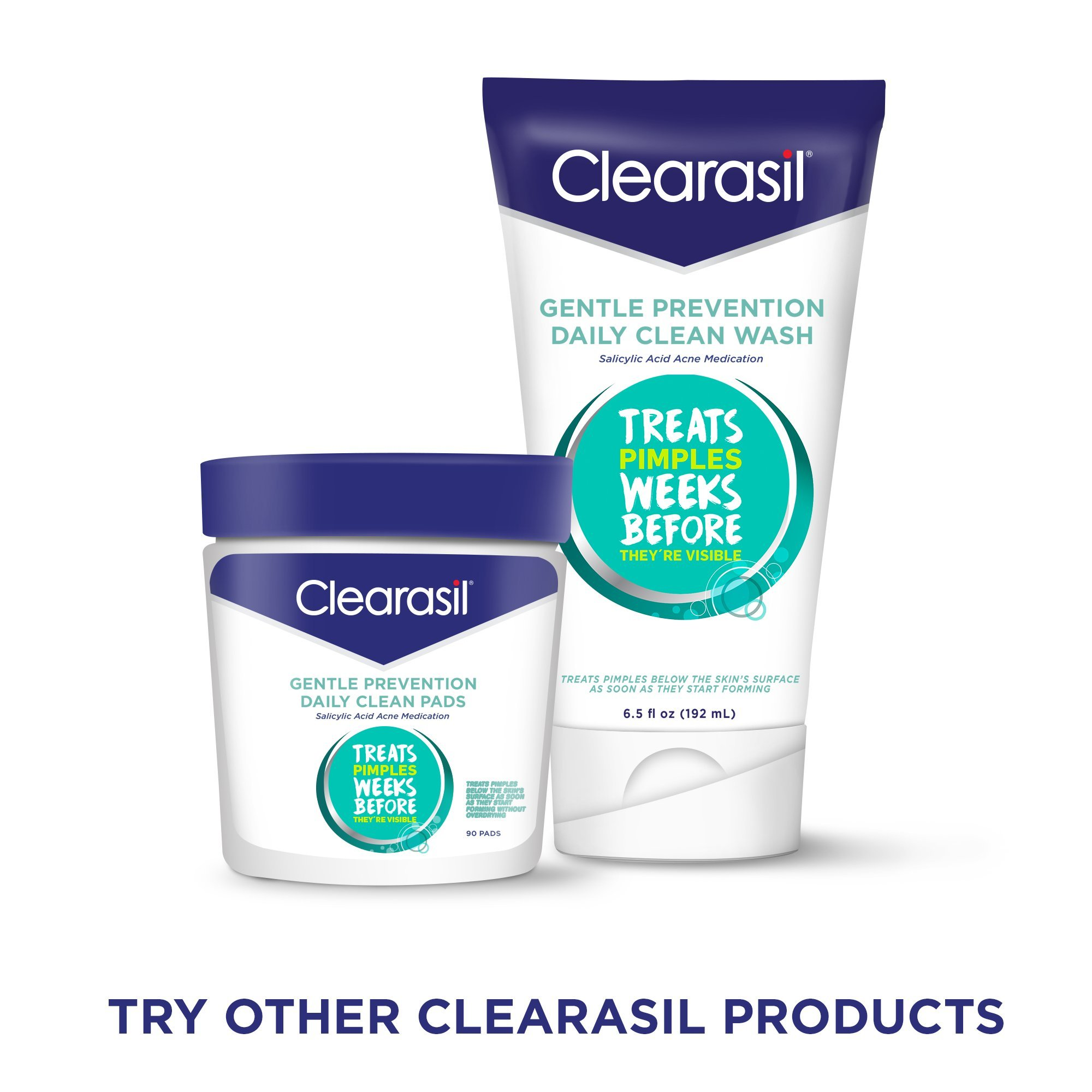 Clearasil Ultra Rapid Action Facial Cleansing Pads, 90 Count by Clearasil