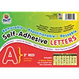 "Pacon Self-Adhesive Letters, Red, Puffy Font, 2"", 159 Characters"