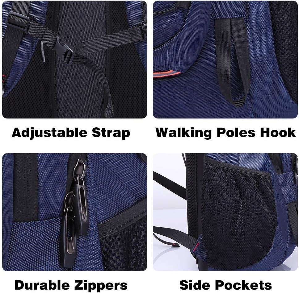 Negro//Azul Mochilas Hombre Grandes 40L Mochilas Deportes Viaje Trekking Daypack Mujer Impermeable Subir Bolsas de Vuelta Camp Caminata Port/átil Bolsa