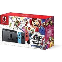 Consola Nintendo Switch + Súper Mario Party (Juego Descargable) - Neón Rojo/Azul