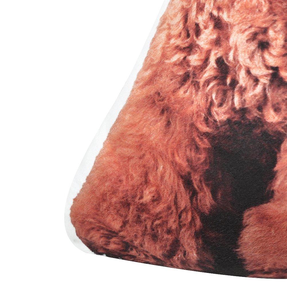 JWH 3D Animals Accent Pillow Digital Print Cushion Decorative Stuffed Toy Home Sofa Car Bed Living Room Children Boy Gift 14 x 13 Inch Akita Dog