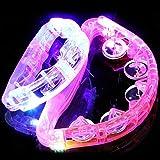 [エクセレンティ] 光る タンバリン LED レインボーカラー カラオケ パーティーグッズ