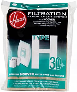 Hoover 40101001 Vacuum Bag and Filter Set, Type H-30 Genuine Original Equipment Manufacturer (OEM) Part