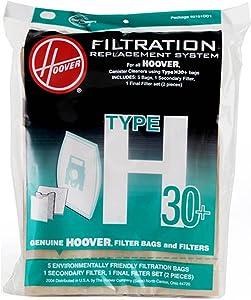 Hoover 40101001 Vacuum Bag and Filter Set, Type H-30 Genuine Original Equipment Manufacturer (OEM) Part
