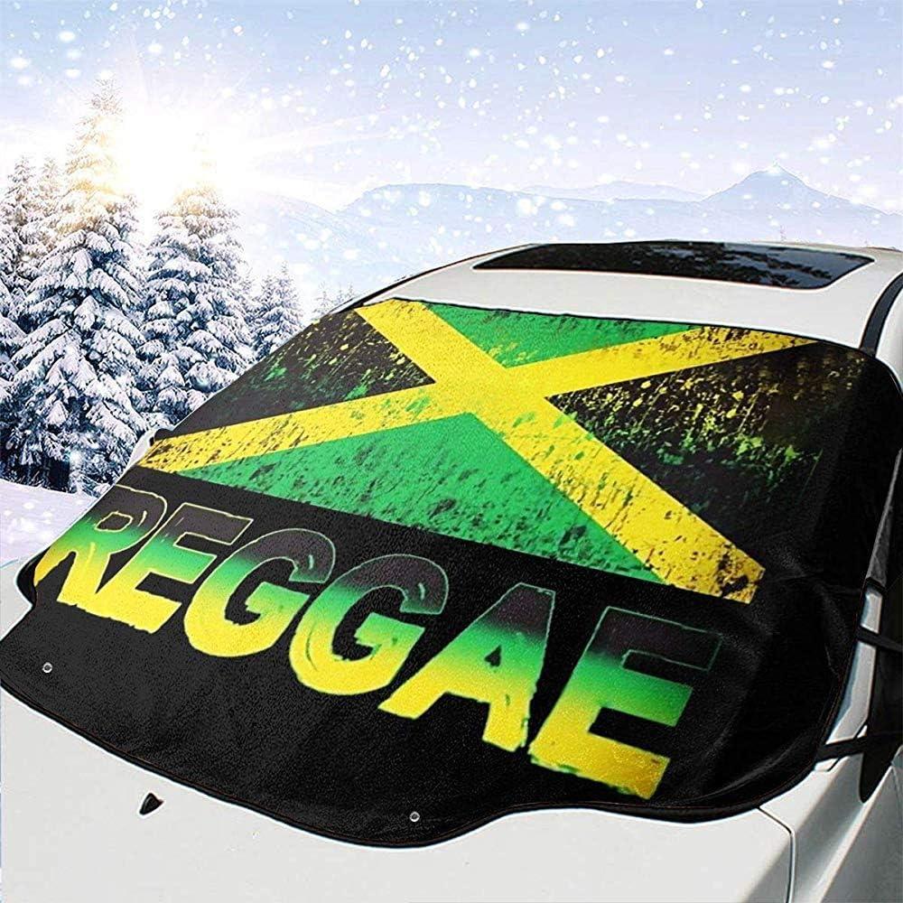 BI HomeDecor Car Sunshade,Grafische Jamaika-Flaggen-Uvprotect-Auto-Frontscheiben-Sonnenschutzschirme F/ür Auto-Automobilfahrzeug 147x118cm