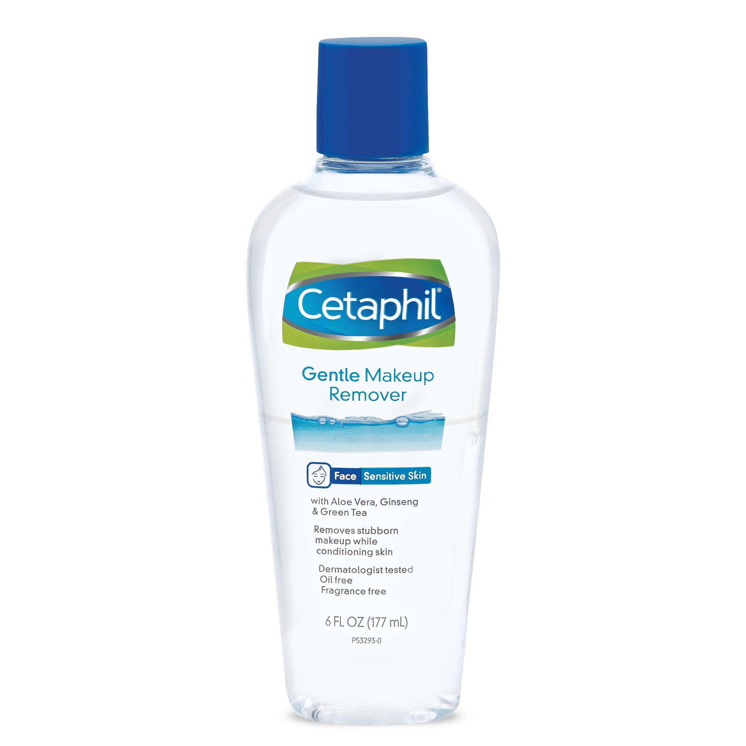 Cetaphil Gentle Waterproof Makeup Remover, 6.0 Fluid Ounce