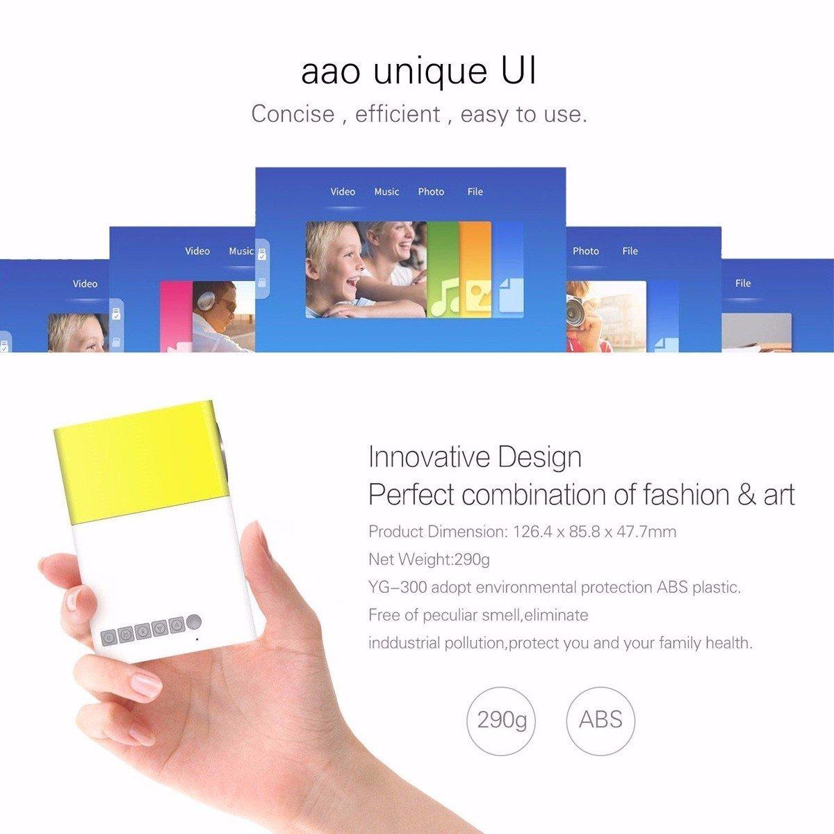 Amazon.com: Mini Projector,ELEGIANT Portable 1080P LED Projector ...