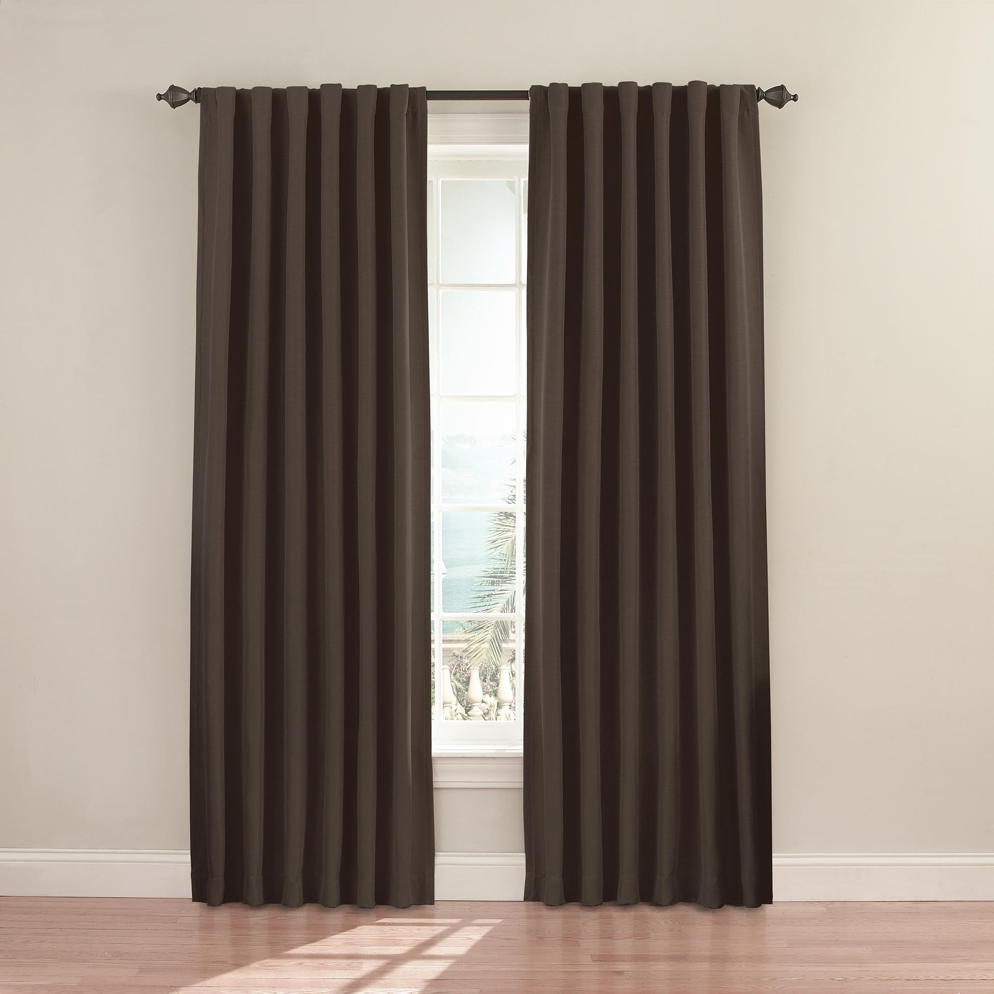 Eclipse 11353052095MSH Fresno 52-inch by 95-inch Blackout Signle Window Curtain Panel, Mushroom