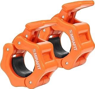 Mirafit Ein Paar Klemmringe für genormte Gewichtstangen 2,5cm – Orange