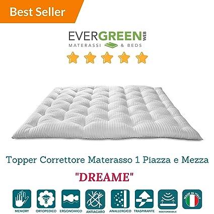 Evergreenweb - Correttore Materasso in Memory Foam MED, misura 1 ...
