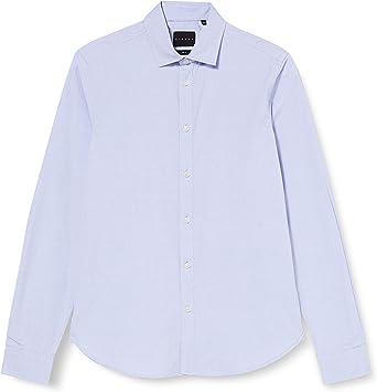 Sisley Shirt Camisa, Black Pinstripe 913, 42 para Hombre ...