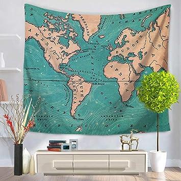 MG-N Tapestry Toalla Toallas De Playa Manta Mapamundi Cocina Dormitorio Sábanas: Amazon.es: Hogar