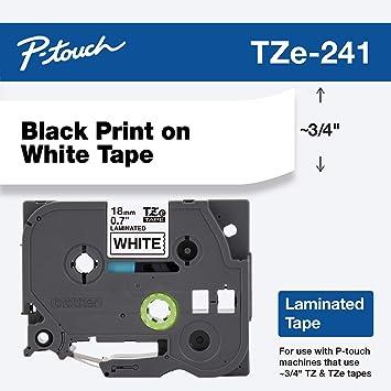 Brother TZe241 cinta para impresora de etiquetas Negro sobre ...
