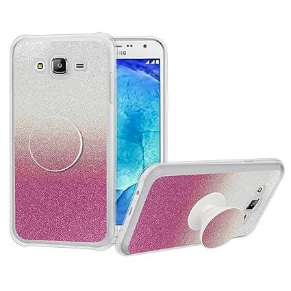 Amazon.com: Galaxy J5 Prime funda, niñas con purpurina lindo ...