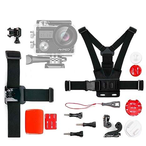 DURAGADGET Kit de Accesorios para Cámara Deportiva AKASO Brave 4, AKASO V50 Pro, COOAU
