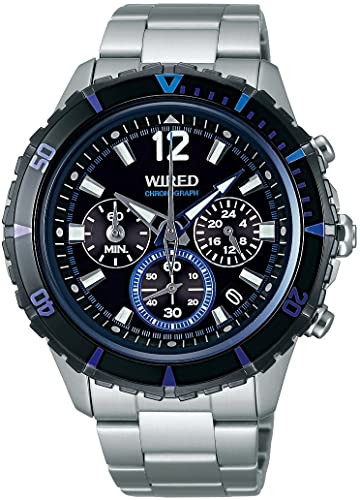 WIRED THE BLUE Chronograph Mens Watch - AGAW429 (Japan Import) | Amazon.com