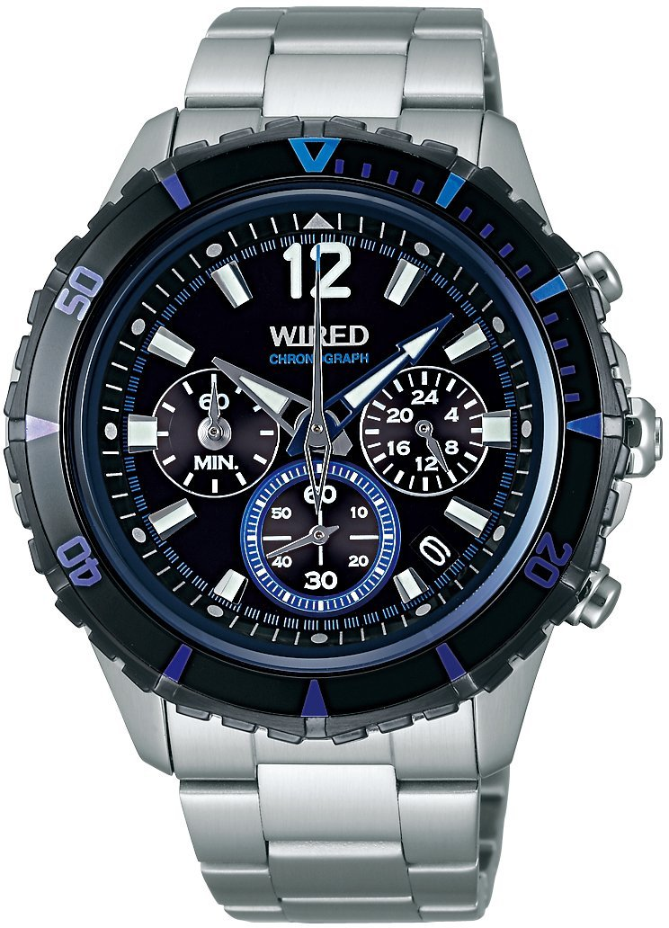 WIRED THE BLUE Chronograph Men's Watch - AGAW429 (Japan Import) by Wired