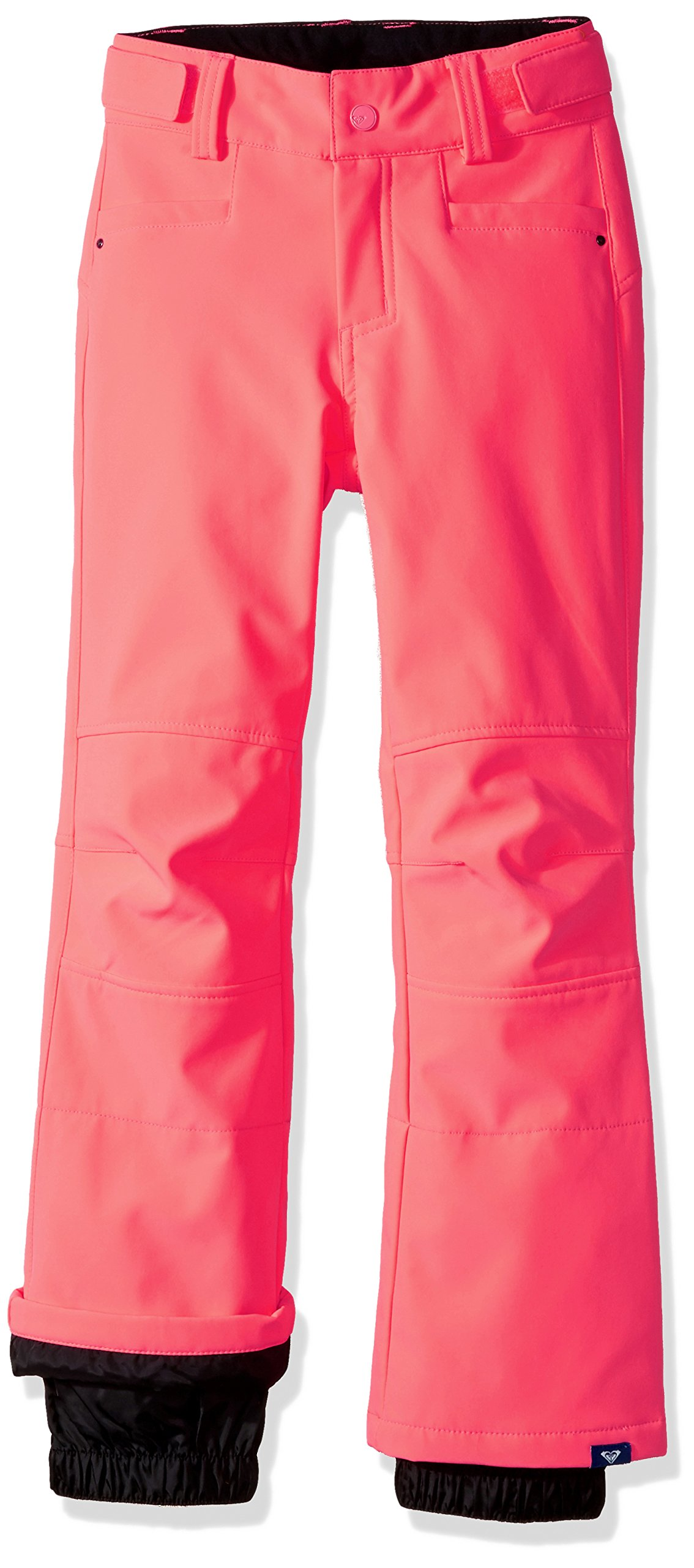 Roxy Big Girls' Creek Softshell Snow Pant, Neon Grapefruit, 8/S