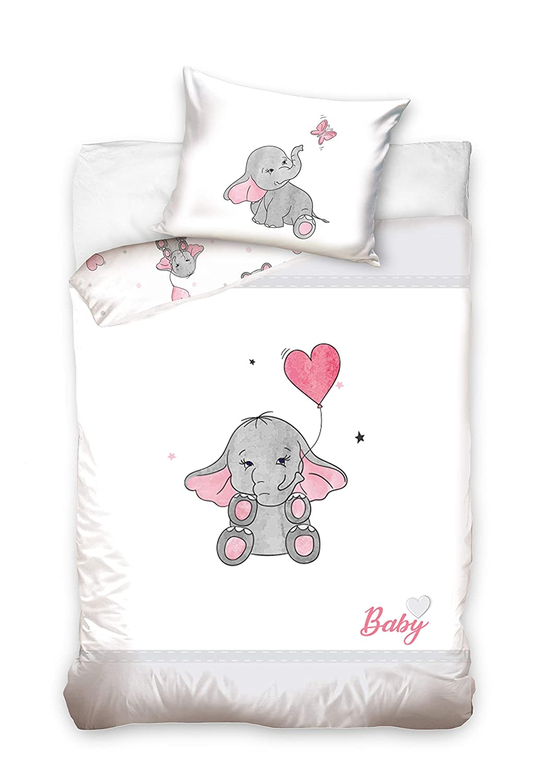 Baby Bettw/äsche 100x135cmElefant